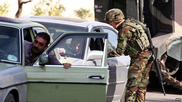 Tripoli checkpoint