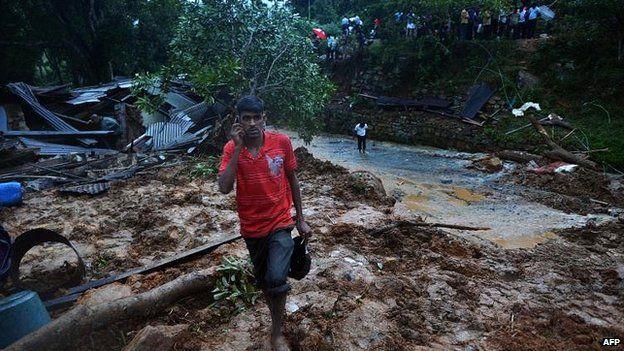 Sri Lanka landslide damage, 29 October 2014