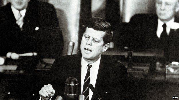 John F Kennedy gives his first State of the Union address