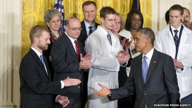 President Obama with Kent Brantly
