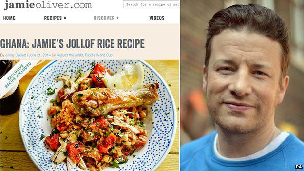 Jamie's Jollof rice recipe and chef Jamie Oliver