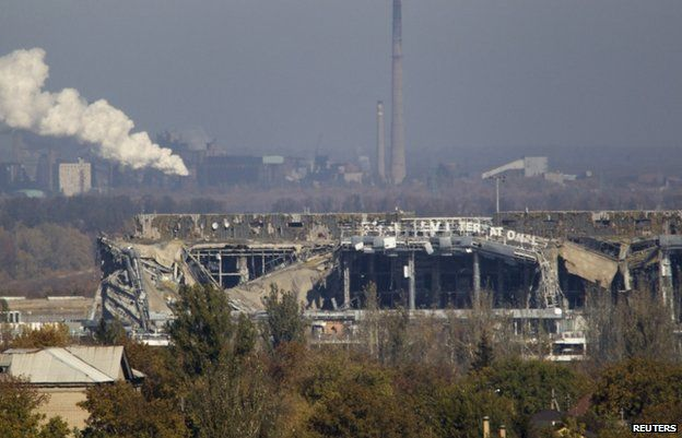 The main terminal at Donetsk airport