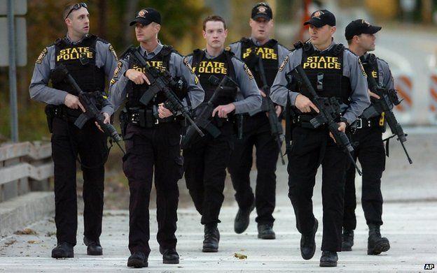 Hundreds of police were involved