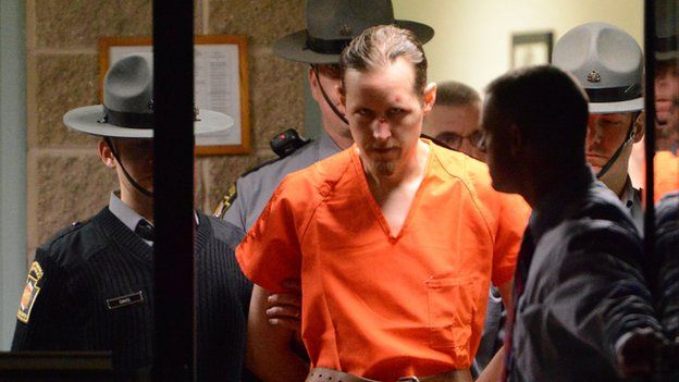 Eric Matthew Frein arrested by police on Friday 31 October 2014
