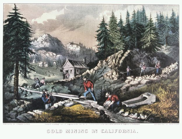 Picture of the Californian gold rush
