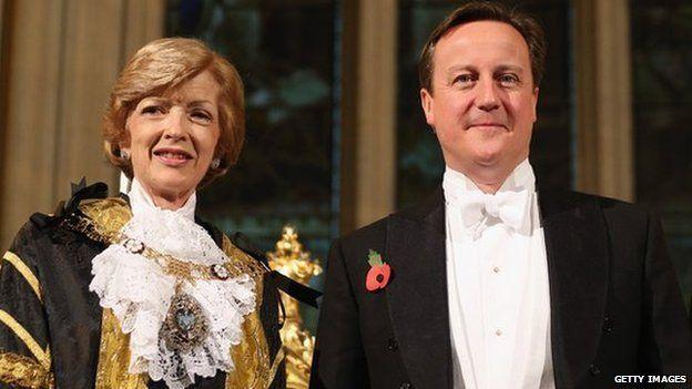 Fiona Woolf with David Cameron