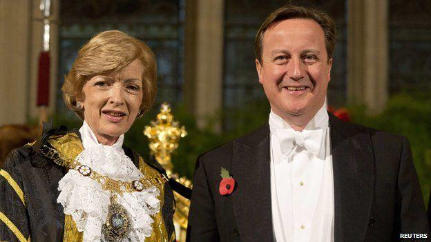 Fiona Woolf and David Cameron