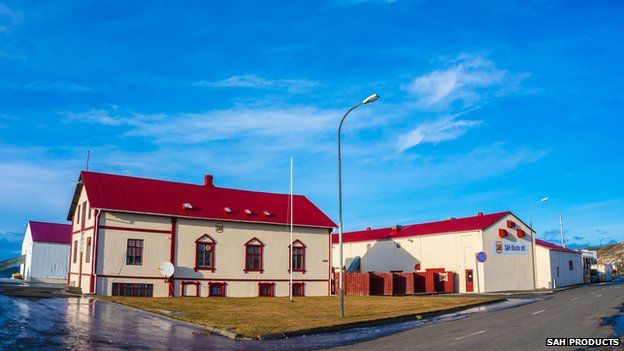 Picture of the SAH Products factory in Blondous, Iceland