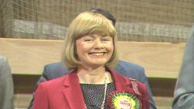 Ann Clwyd winning her seat in 1984