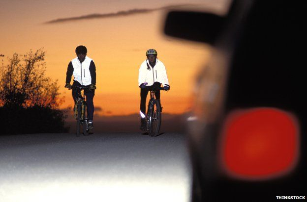 Cyclists in hi-vis