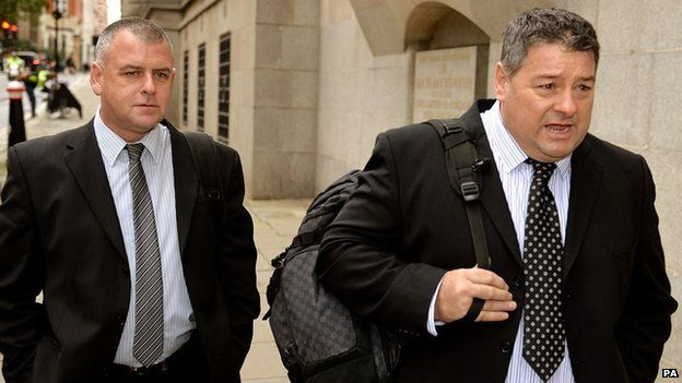 Colin Kaler and Terence Hughes (right), of the security firm G4S,