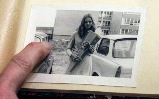 An old photo of Daniela Walther's friend Gudrun