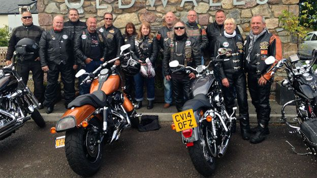 Some of the Harley Davidson owners' club