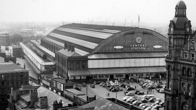 Manchester Central Railway Station in 1964
