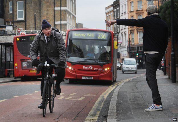 Boris Johnson on bike