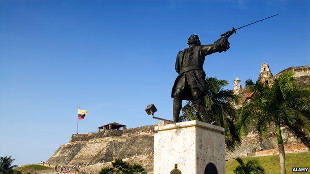 Statue of General Blas de Lezo in Cartagena