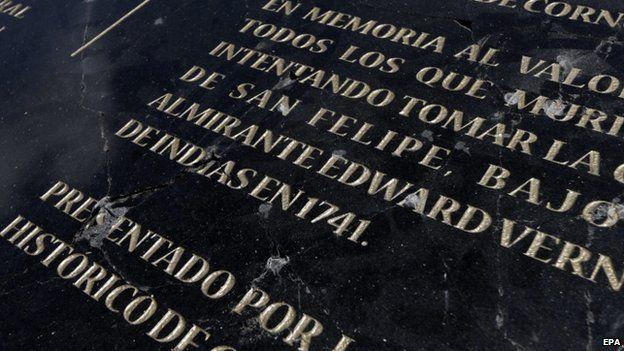 Damage plaque in Cartagena