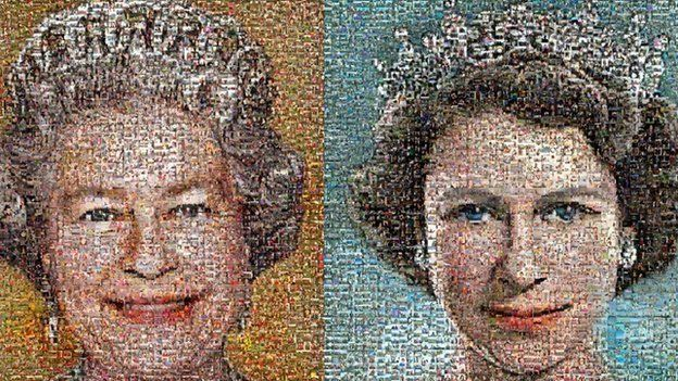 Two mosaics of the the Queen