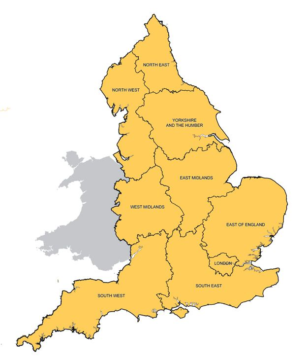Map Of Uk Showing Regions.The Awkward Jigsaw Of England S Boundaries Bbc News