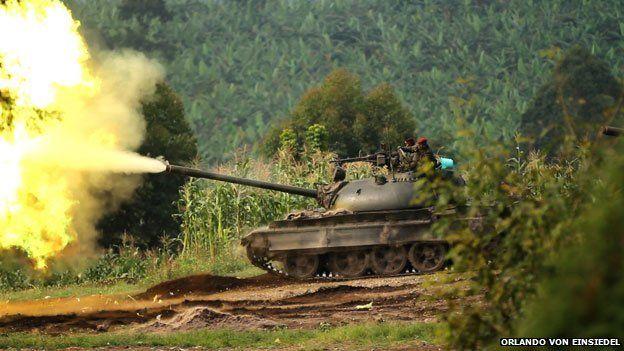tanks firing in the park