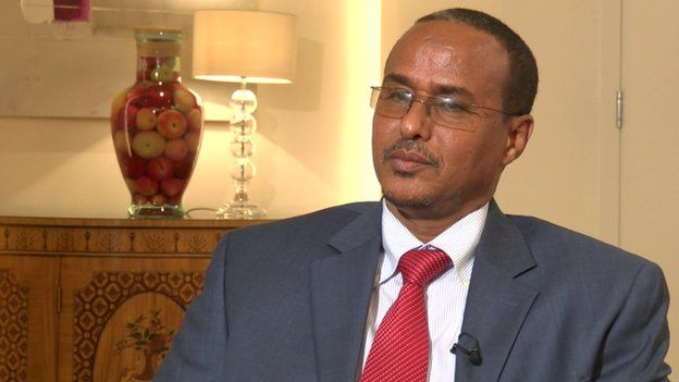 Somalia's Minister of Petroleum and Resources, Daud Mohamed Omar