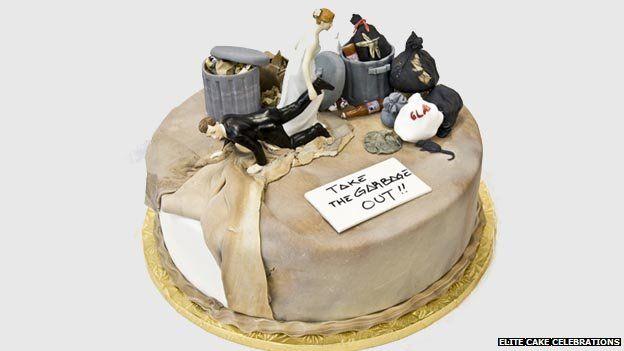 A divorce celebration cake from Elite Cake Celebrations