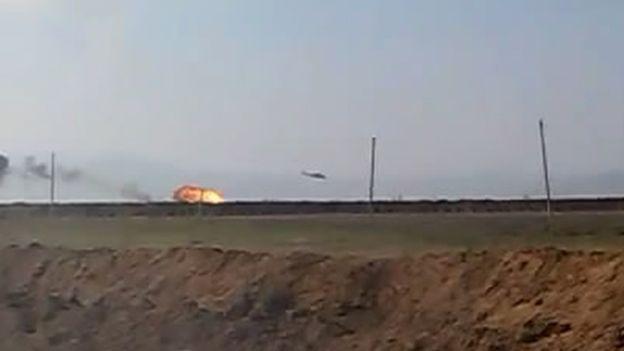 Photo provided by Azerbaijan ministry of defence (13 Nov)