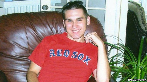 CJ Twomey in Red Sox T-shirt