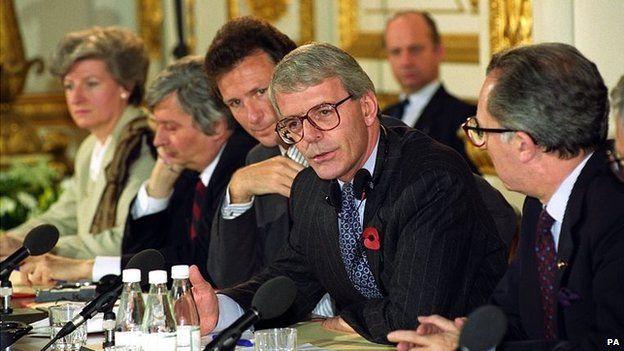 John Major hosting an EEC meeting in 1992