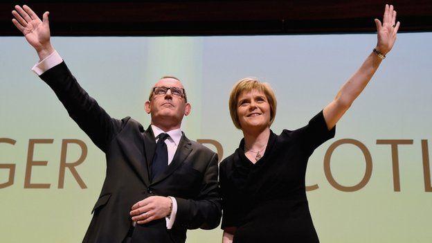 Stewart Hosie and Nicola Sturgeon