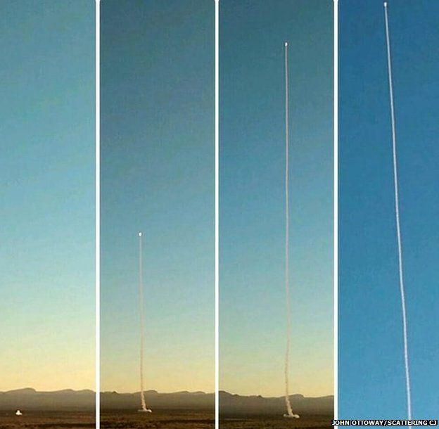 Pictures of the rocket launch that took CJ's ashes into space