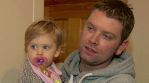 Robert Best with his daughter, Ella. He was one of four men who helped rescue a woman from the River Bann