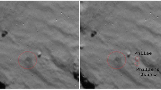 Philae landing
