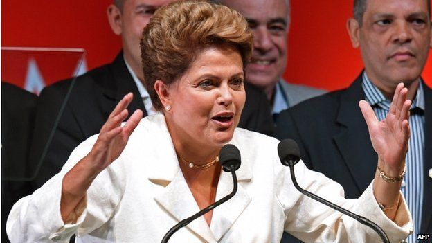 President Dilma Rousseff on re-election night October 2014