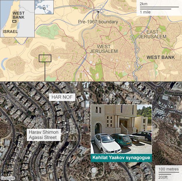 Jerusalem synagogue Palestinians kill Israeli worshippers  BBC News