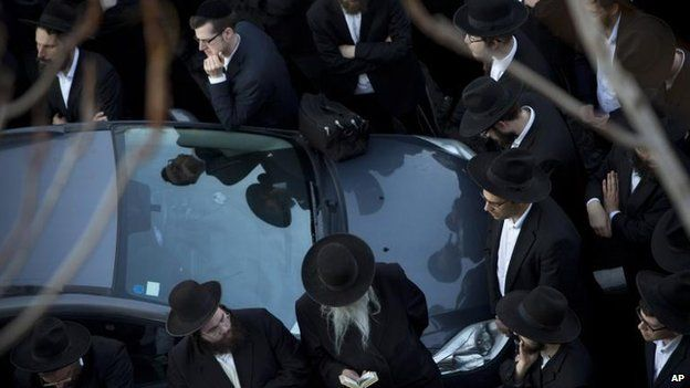 The funeral of Rabbi Moshe Twersky in Jerusalem, 18 Nov