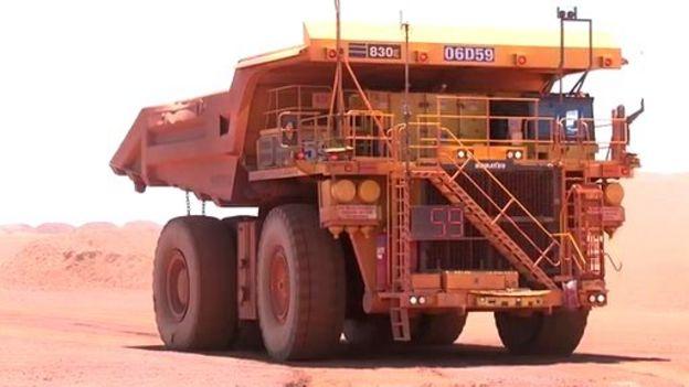 Robot trucks do the jobs Australians shun - BBC News