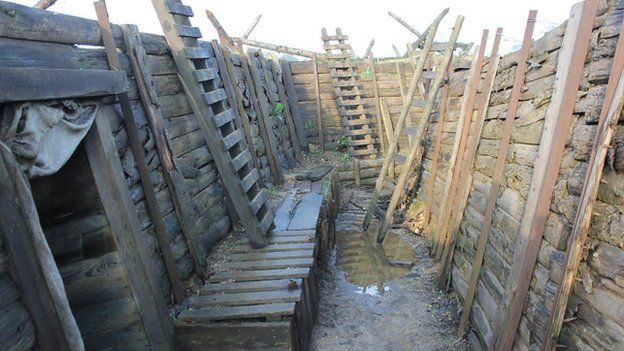 Bumper year for Suffolk's 'TV trenches' in WW1 centenary - BBC News
