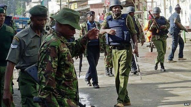 Kenyan security forces in Mombasa