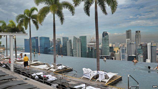 Singapore skyline from Marina Bay Sands