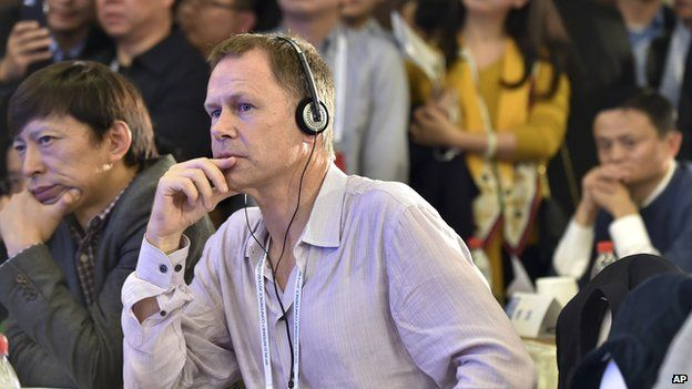 Vaughan Smith, Vice President of Facebook, listens as he attends the World Internet Conference in Wuzhen on Wednesday, 19 November, 2014