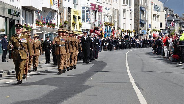 Liberation Day 2014 parade in Guernsey