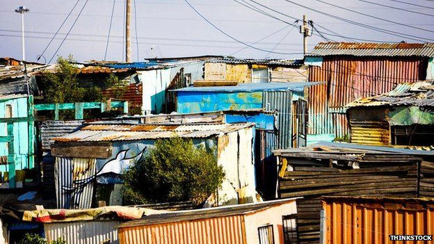Shacks in South Africa