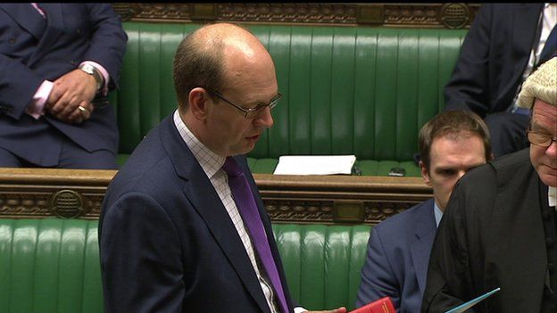 Mark Reckless being sworn in at the House of Commons