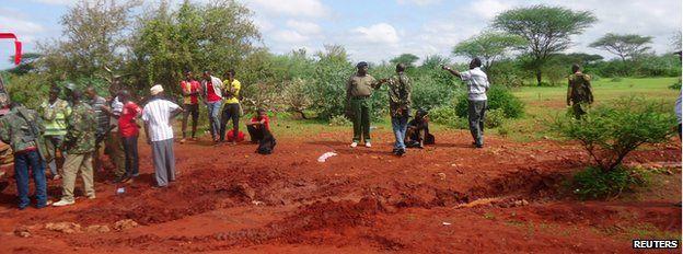 Scene of bus attack in Mandera county, Kenya