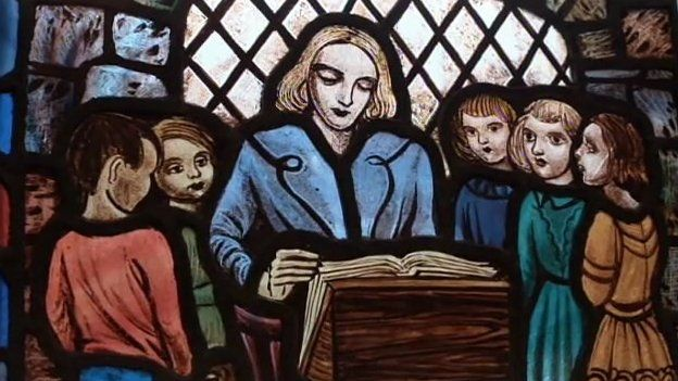 Jane Haining is depicted on a stained glass window in the Queen's Park church