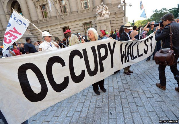 Occupy Wall Street banner