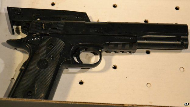 The BB gun taken from the 12-year old shot by Cleveland police (23 November 2014)
