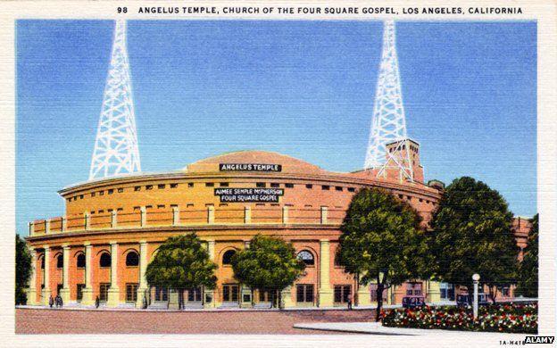 Angelus Temple postcard