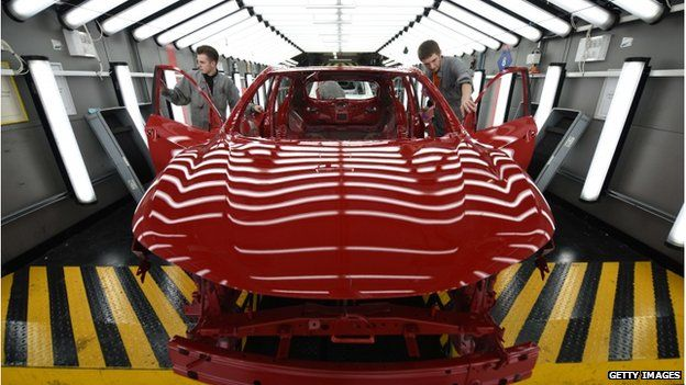 Car manufacturing at Nissan in the UK